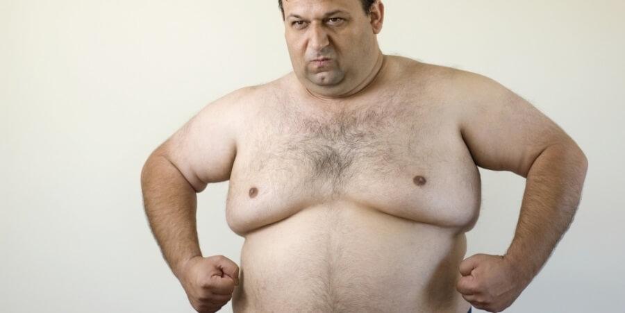 Как убрать жир с грудины у мужчин