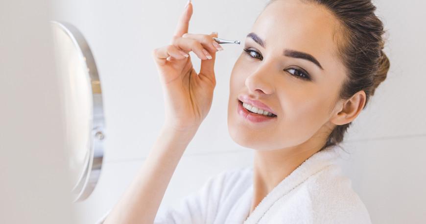 Что сделать что бы не больно выщипывать брови