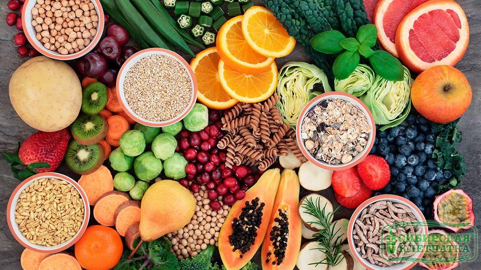 Продукты с клетчаткой для похудения; список богатых пищевыми волокнами продуктов