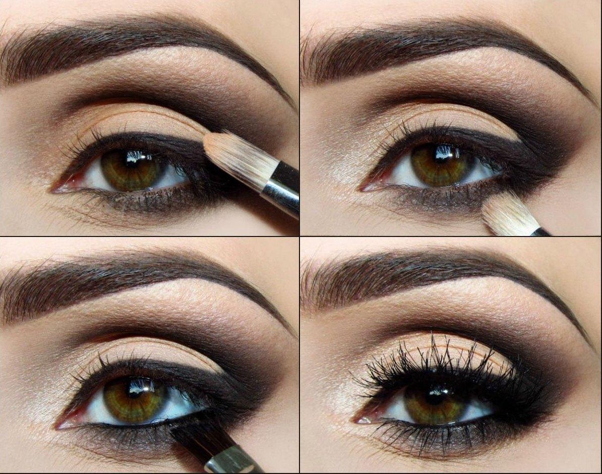 вечерний макияж для зеленых глаз фото поэтапно тот день