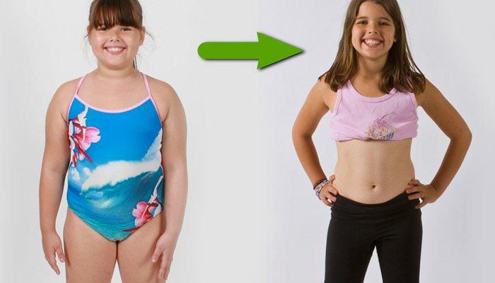 Похудеть девочке 10 лет