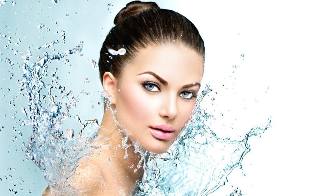 Увлажнение кожи картинка с каплями воды